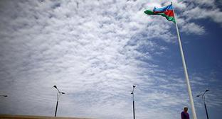 The flag of Azerbaijan. Photo: REUTERS/Stoyan Nenov