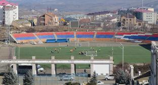 "A stadium in Stepanakert. February 2019. Photo by Alvard Grigoryan for the ""Caucasian Knot"""