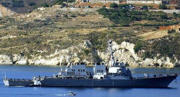 NATO ship arrives for joint exercises with Georgian military personnel