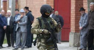 A law enforcer. Ingushetia. Photo: REUTERS/Kazbek Basayev