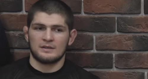 Khabib Nurmagomedov. Photo: Vremya sports - https://www.youtube.com/watch?v=HWyclHTd89o https://ru.wikipedia.org/