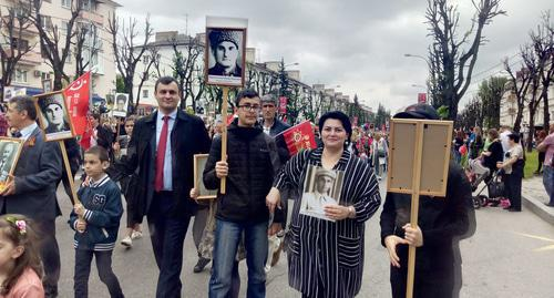 """Immortal Regiment"" action in Nalchik. Photo by Lyudmila Maratova for the Caucasian Knot"