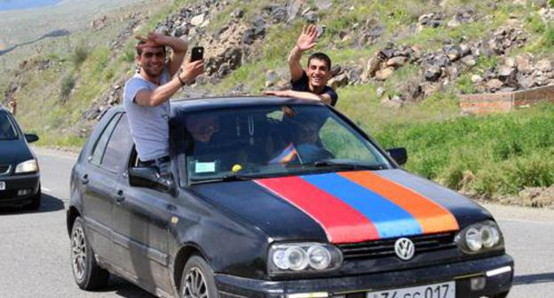 "Participants of a motor rally in Armenia against the development of the Amulsar gold deposit. Photo by Tigran Petrosyan for the ""Caucasian Knot"""