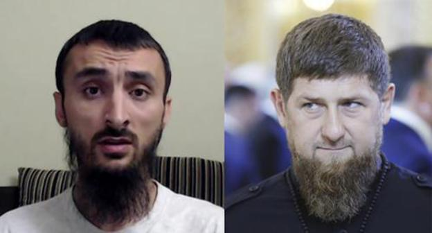 "Ramzan Kadyrov (on the right) and Tumso Abdurakhmanov. Collage by the ""Caucasian Knot"". Photo: AAMTSN https://ru.wikipedia.org  Sputnik/Mikhail Metzel/Pool via REUTERS"