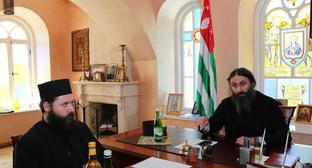 A session of the Council of the Holy Metropolis of Abkhazia on May 17, 2019, which has decided to close New Athos Monastery for tourists. Photo from the website of the Metropolis