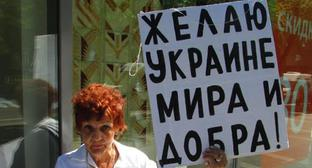 Galina Tikhenko holds picket in Volgograd, May 19, 2019. Photo by Vyacheslav Yaschenko for the Caucasian Knot