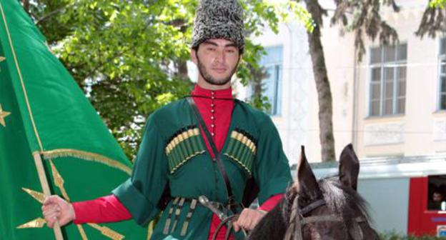 Participants of equestrian advance angry chief Nalchik