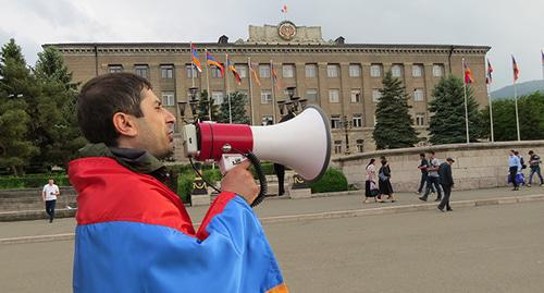 Activist Tigran Petrosyan, Stepanakert, Nagorno-Karabakh, May 20, 2019. Photo by Alvard Grigoryan for the Caucasian Knot