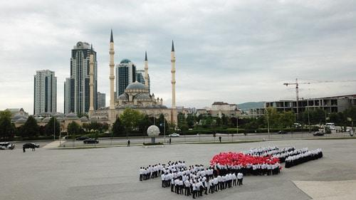 Ramadan flashmob in Grozny. Photo: press service of the City Administration, http://grozmer.ru