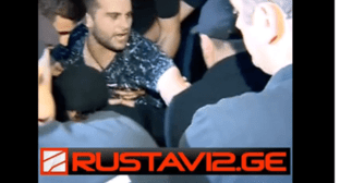 Screenshot of the video of the detention of a gay parade opponent in Tbilisi. June 14, 2019, http://www.rustavi2.ge/en/news/135982