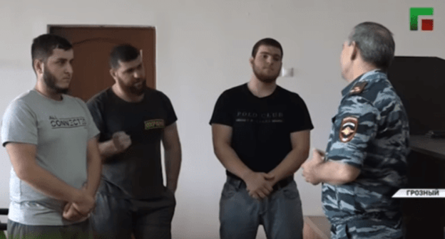 Three residents of Chechnya in public act contrite designed for eating alcohol at some point in Uraza-Bayram