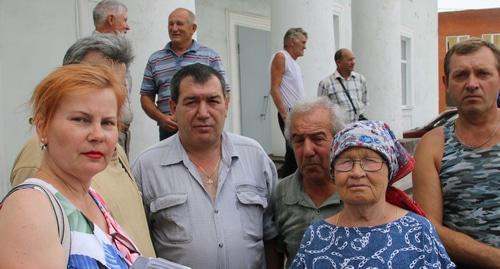 Participants of miners' picket in Gukovo, June 22, 2019. Photo by Vyacheslav Prudnikov for the Caucasian Knot