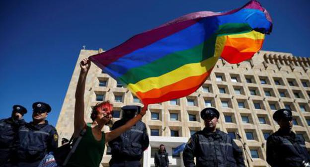 Opponents of LGBT advance all the rage Tbilisi be in the offing headed for dislocate it