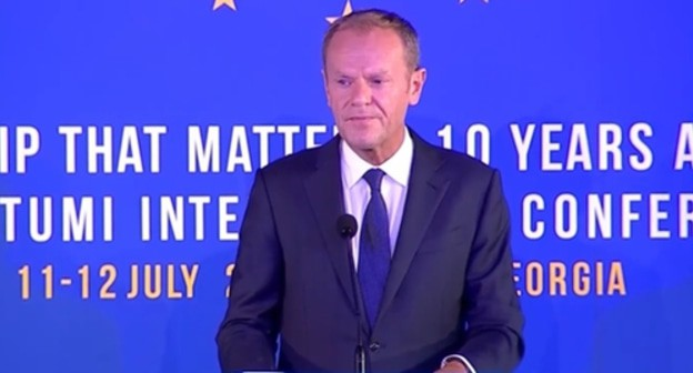 Georgian opposition talks to Tusk about EU sanctions