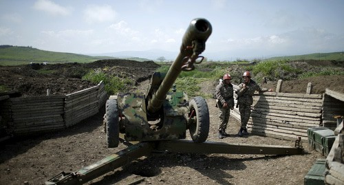 On the contact line in Nagorno-Karabakh. Photo: REUTERS/Staff