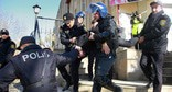 The police detains an activist. Azerbaijan. Photo: REUTERS/Aziz Karimov