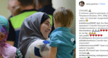 A woman with a boy evacuated from Iraq. July 10, 2019. Photo: screenshot of the post on Instagram https://www.instagram.com/p/BzwT1zLlXlm/