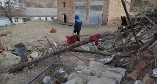 Vremenny village after special operation, December 2014. Photo: press service of HRC 'Memorial', http://memohrc.org