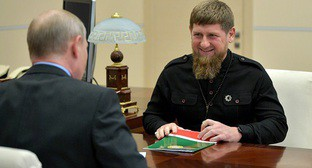 Meeting of Vladimir Putin and Ramzan Kadyrov. Photo: Kremlin press service, http://kremlin.ru/events/president/news/57797/photos/54275
