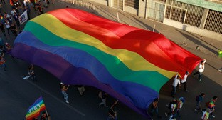 A march with the LGBT flag. Photo: REUTERS/Jose Luis Gonzalez