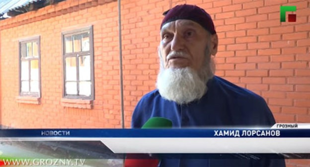 Screenshot of the video by the Grozny TV channel http://newsvideo.su/video/11104463