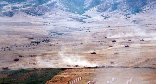 Military exercises in near-front zone. Photo: press service of the Ministry of Defence of Azerbaijan