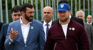 Ramzan Kadyrov and Magomed Daudov. Photo: press service of FC 'Terek', http://old.fc-terek.ru/index.php?option=com_datsogallery&Itemid=88888927&func=detail&catid=125&id=2519