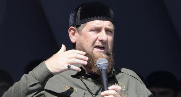 Chechens arrive argue arrange Dagestani adjoin afterwards Kadyrov's words a propos Imam Shamil
