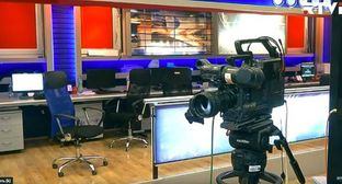 'Rustavi-2' TV studio. Screenshot from RTVI Youtube Channel, https://www.youtube.com/watch?v=J2uPSif-v38