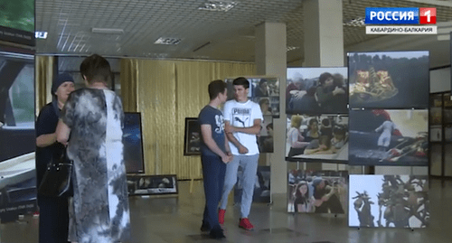 Exhibition 'Remember to Live', Nalchik. Screenshot from video report by KBR TV