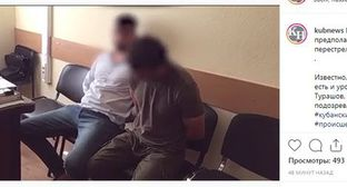 Men detained after shootout in Krasnodar. Screenshot of Instagram post: https://www.instagram.com/p/B1f0TINhYQS/