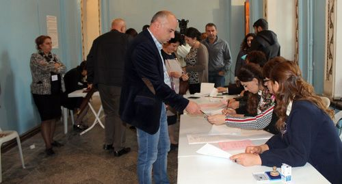 Voters at a polling station in Nagorno-Karabakh. Photo by Alvard Grigoryan for the Caucasian Knot