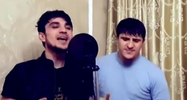 Brothers Ayub and Askhab Vakharagov. Screenshot from video 'Ayub Vakharagov' Official Music, https://www.youtube.com/watch?v=QyXyGKM3wPY