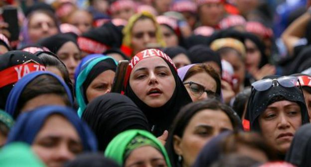 Believers celebrate the Ashura Day, September 10, 2019. Photo by Aziz Karimov for the Caucasian Knot