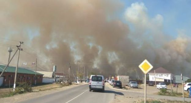 Fire in the Temryuk District (Kuban). Photo by Anna Pologrudova for the Caucasian Knot