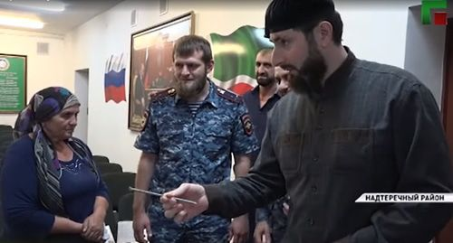 Screenshot from video posted by 'Grozny' TV Channel: https://www.youtube.com/watch?v=1tVqbmcyll4