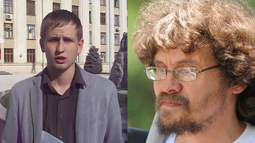 "Activist Alexei Mandrigelya (left) and coordinator of the ""Ecological Watch for Northern Caucasus"" Andrei Rudomakha. Screenshot from: https://youtu.be/QX82SXYqgxU and photo by Elena Sineok (Yuga.ru). Collage by the Caucasian Knot"
