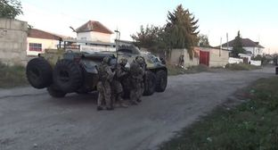 The counterterrorist operation in Chegem. Photo by the press service of NAC http://nac.gov.ru/kontrterroristicheskie-operacii/v-hode-kto-v-chegeme-neytralizovany-dvoe.html#&gid=1&pid=2