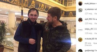 Magomed Idrisov (on the left) and Ramzan Kadyrov. Photo: screenshot of the post on Makha Idrisov's page on Instagram https://www.instagram.com/mahi_idrisov/?hl=ru