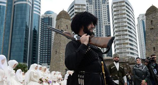 "collective association users act towards ""wedding"" apologies appear in Chechnya because disproportionate"