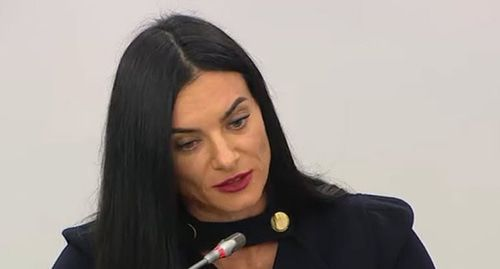 Yelena Isinbayeva. Screenshot from video posted at: http://kremlin.ru/events/president/news/61771/videos