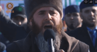 Salakh-Haji Mezhiev, the Mufti of Chechnya. Screenshot from video: https://vk.com/video279938622_456242329
