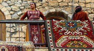 "The carpet exhibition in Nagorno-Karabakh. Photo by Alvard Grigoryan for the ""Caucasian Knot"""