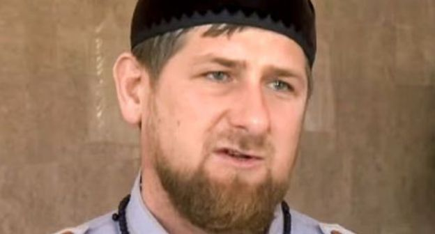 Ramzan Kadyrov. Screenshot of the video by the Rossiya (Russia) TV channel https://www.youtube.com/watch?time_continue=118&v=nLJeWt8rJ70""