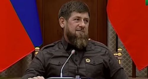 "Ramzan Kadyrov. Screenshot of the video by the ""Grozny"" TV Channel https://www.youtube.com/watch?time_continue=1&v=mqr7XSn8omk"