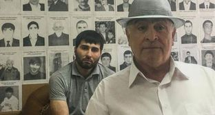 "Magomed Katsiev (on the right) and Khasan Katsiev. Photo by the Human Rights Centre (HRC) ""Memorial"" https://memohrc.org"