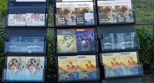 Jehovah's Witnesses' books. Photo by M.Kuznetsova for the Caucasian Knot