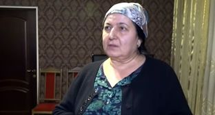 "Raisa Dakhtsaeva. Screenshot from video posted by the ""Grozny"" ChGTRK, http://www.youtube.com/watch?v=x64ZGtfB8gk"