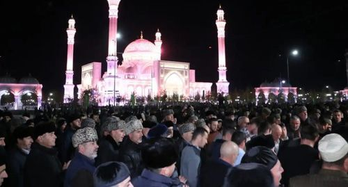 Celebration of the birthday of Prophet Muhammad in Shali. Photo: press service of the head and government of the Chechen Republic. http://chechnya.gov.ru/