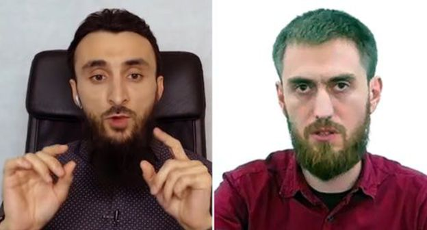 "Tumso Abdurakhmanov (on the left) and Chingiz Akhmadov. Screenshots of the videos https://www.youtube.com/watch?v=leVmyLRisZQ and https://www.instagram.com/p/B2rKiMpIgXg/ Collage by the ""Caucasian Knot"""